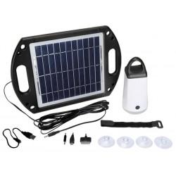 Eclairage solaire portatif pour camping