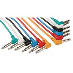 Câble patch jack 6.35mm 0.5m coudé