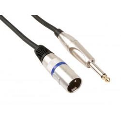 Câble audio XLR mâle, jack 6.35mm mâle 1.5m
