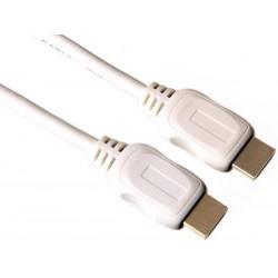 Cordon HDMI 2.0 avec ethernet 1.5m mâle blanc