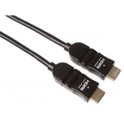 Cordon HDMI articulé coudé mâle