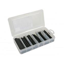 Assortiment de gaines thermorétractables avec colle et boîte de rangement