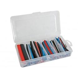 Assortiment de gaines thermorétractables couleurs avec boîte de rangement