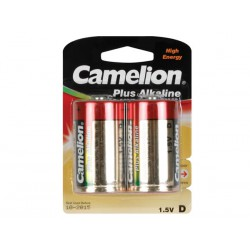 Pile LR20 1.5V Alcaline Camelion par 2