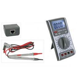 Multimètre multifonctions avec testeur de câble et de ligne