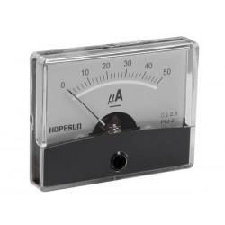 Ampèremètre 50µA CC analogique 60 x 47mm