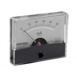 Ampèremètre 50mA CC analogique 60 x 47mm