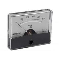Ampèremètre 500mA CC analogique 60 x 47mm