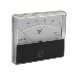Ampèremètre 50mA CC analogique 70 x 60mm