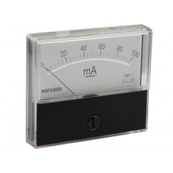 Ampèremètre 100mA CC analogique 70 x 60mm