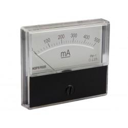 Ampèremètre 500mA CC analogique 70 x 60mm