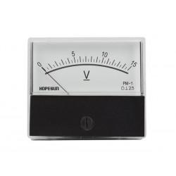 Voltmètre 15 V CC 70 x 60mm analogique de tableau