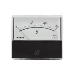 Voltmètre 300 V AC 70 x 60mm analogique de tableau