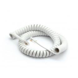 Cordon téléphonique en spirale RJ9 3m