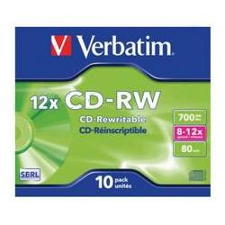 Pack de 10 CD-RW 700 Mo Verbatim