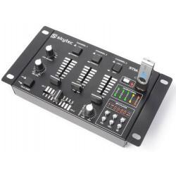 Table de mixage 6 canaux avec lecteur MP3 USB