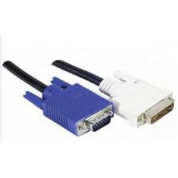 Cordon VGA / DVI 1.8m mâle