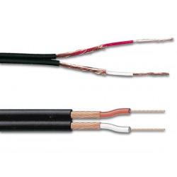 Câble blindé 2 x 0.25mm² audio, noir