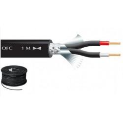 Câble double blindage 2 x 0.24mm² audio, noir