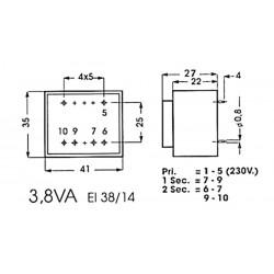 Transformateur moulé 3.8VA