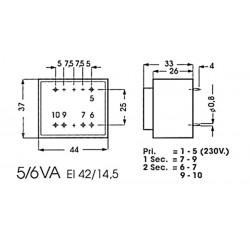 Transformateur moulé 5VA