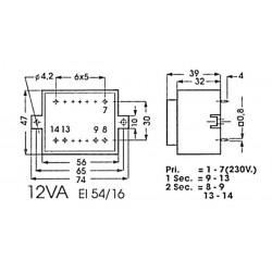 Transformateur moulé 12VA