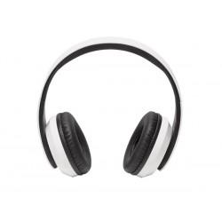 Casque stéréo avec micro Bluetooth, blanc