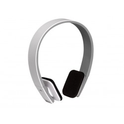 Casque stéréo compact avec micro Bluetooth, blanc