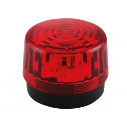 Flash stroboscopique rouge à led 12Vcc 100mm