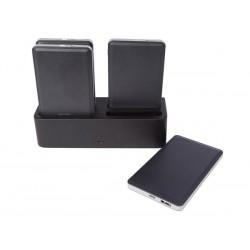 Station de charge avec 4 batteries externe portable USB 4000mAh