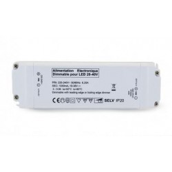Driver led 20-40VDC 40W dimmable, coupure de phase