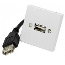 Plastron USB A 45X45mm