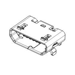 Embase micro-usb cms, avec fixation traversante