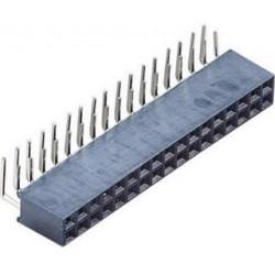 Barrette femelle 2x40 broches 2.54mm coudé
