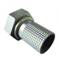Fiche F à visser pour coax Ø6,8 mm