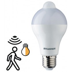 Ampoule E27 Led 12W 1055 lm blanc chaud avec capteur de mouvement