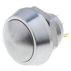 Bouton poussoir inox diamètre 12mm IP65 2A
