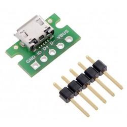 Connecteur Micro USB pour breadboard