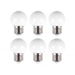 Ampoules blanches de rechange pour guirlande de fête