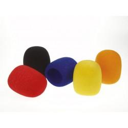 Jeu de bonnettes couleurs anti-vent pour microphone