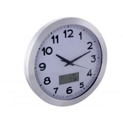 Horloge murale 35 cm avec thermomètre, hygromètre, météo