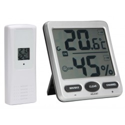 Thermomètre / Hygromètre sans fil grand afficheur LCD