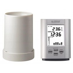 Pluviomètre avec thermomètre sans fil La Crosse