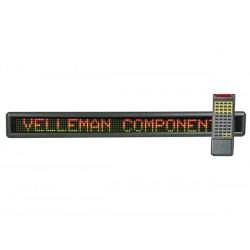 Journal lumineux multicolore avec télécommande 100 cm