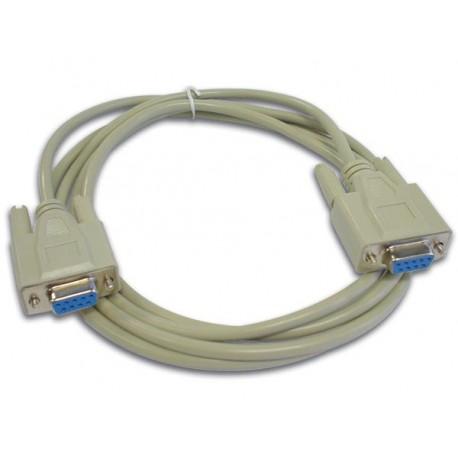 Cordon null modem SUBD9 femelle / femelle 2m