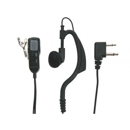 Ecouteur avec microphone fonction PTT Midland MA11-L