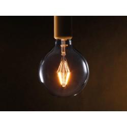Ampoule Led 4.5W 300 lm style rétro E27 blanc chaud G95