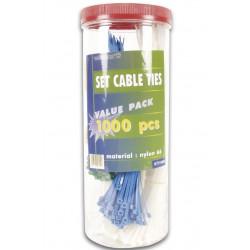 Assortiment de 1000 serre-câbles