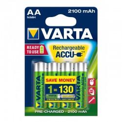 Pile AA 1.2V rechargeable 2100mA batterie NiMH Varta