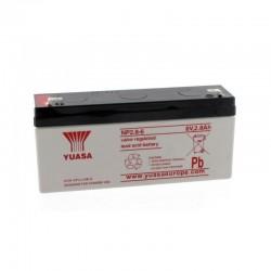 Batterie plomb 6V 2.8Ah Yuasa 134 X 34 X 64